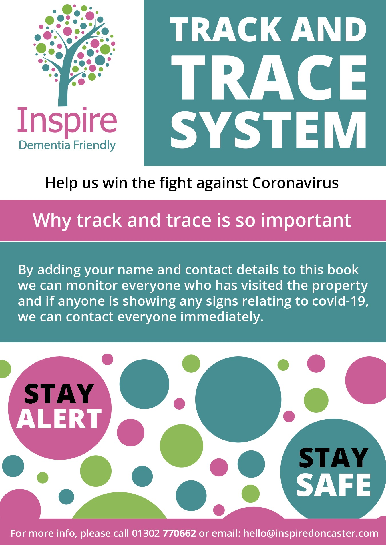 Track and trace Inspire Doncaster