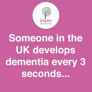 Dementia Statistic - Someone in the UK develops dementia every 3 seconds