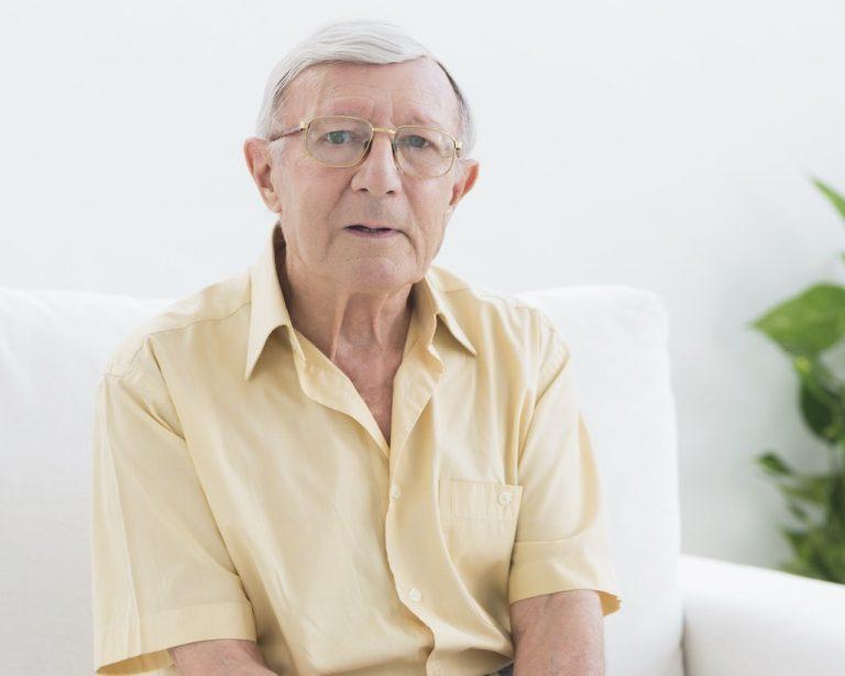 Elderly man living with dementia